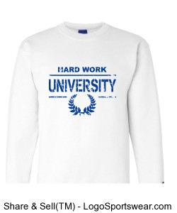 HARD WORK U BLOCK SWEATER Design Zoom